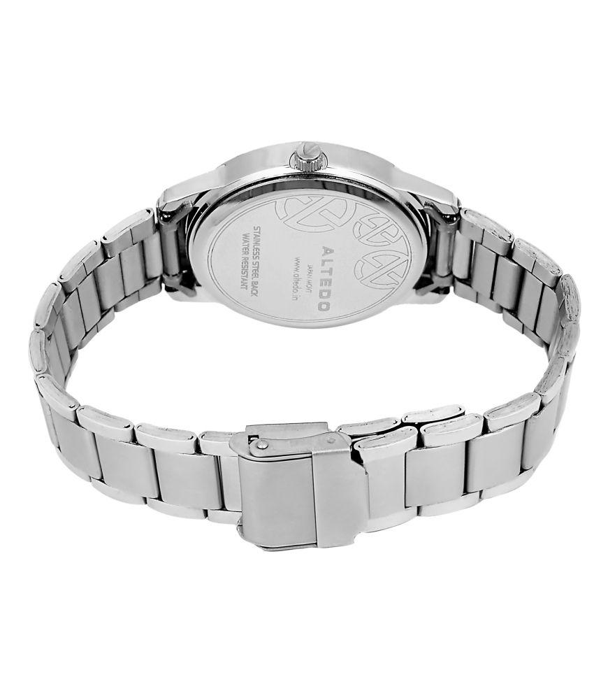 Altedo Silver Analog Women Watch Price In India Buy Altedo Silver