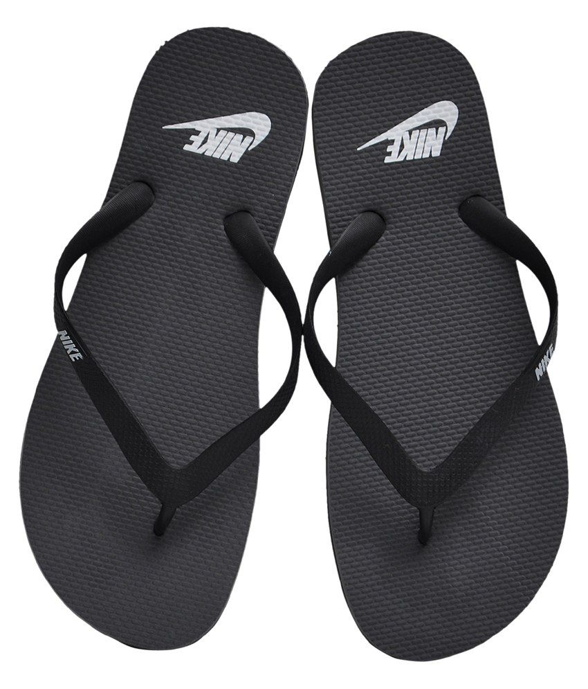 b673fe966204 ... Nike Men s Aquaswift Charcoal Black and Grey Flipflops and House  Slippers - UK ...