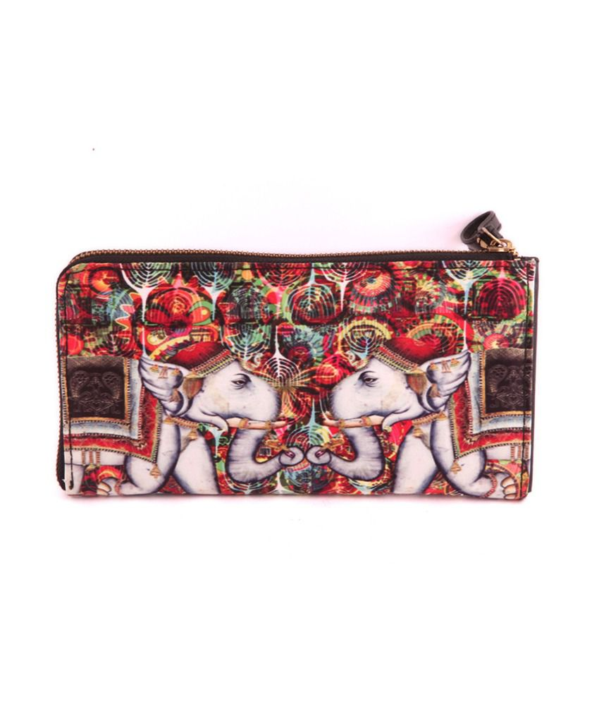 The Purple Sack Red Clutch