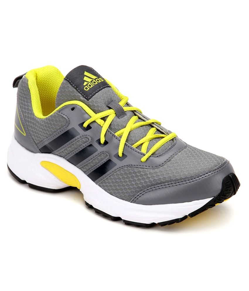 quality design 6ab6f 869d0 Adidas Ermis M Grey And Yellow Sports Shoes