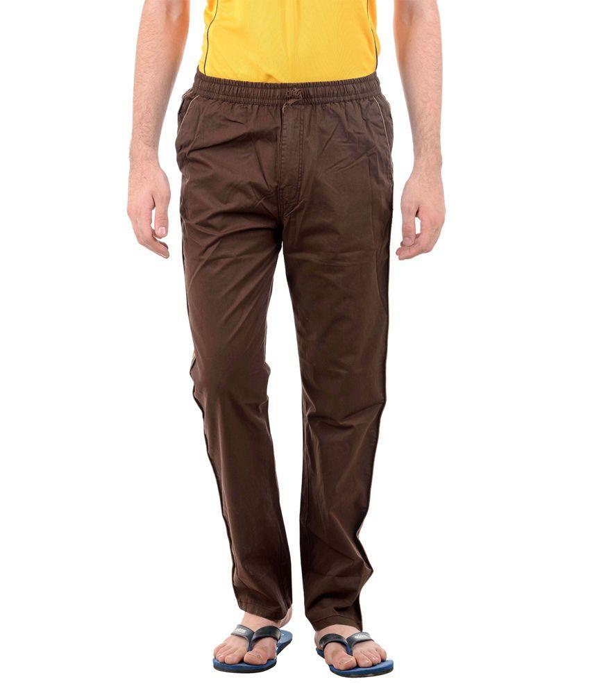Burdy Brown Cotton Trouser