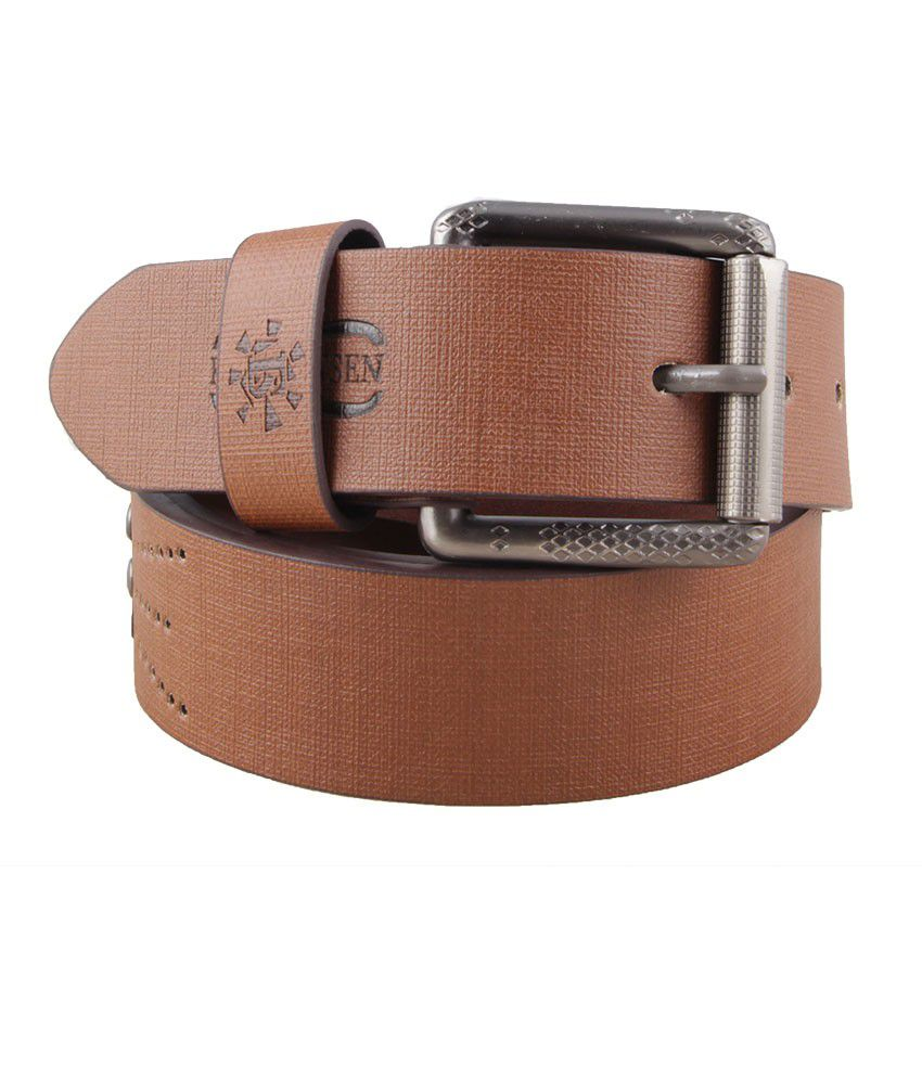 SK Tan Formal Reversible Belt For Men
