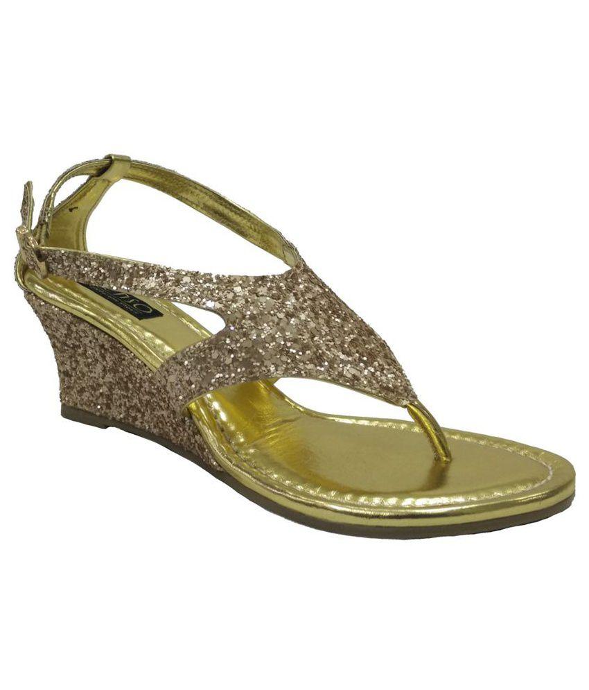 Senso Vegetarian Shoes Gold Shiny Sandals