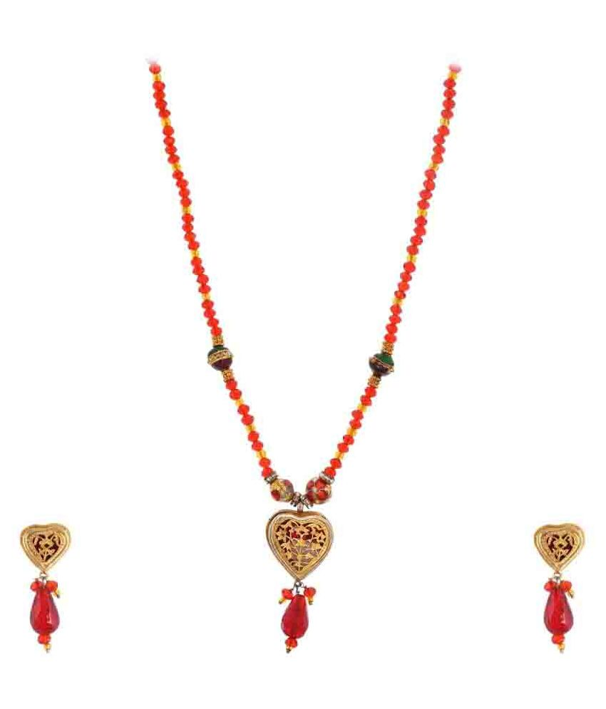 Yazat Contemporary Gold Foil Necklace Set