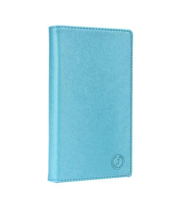 Jo Jo Cover Squirrel Series Leather Flip Case For Karbonn Machone Titanium S310 - Light Blue