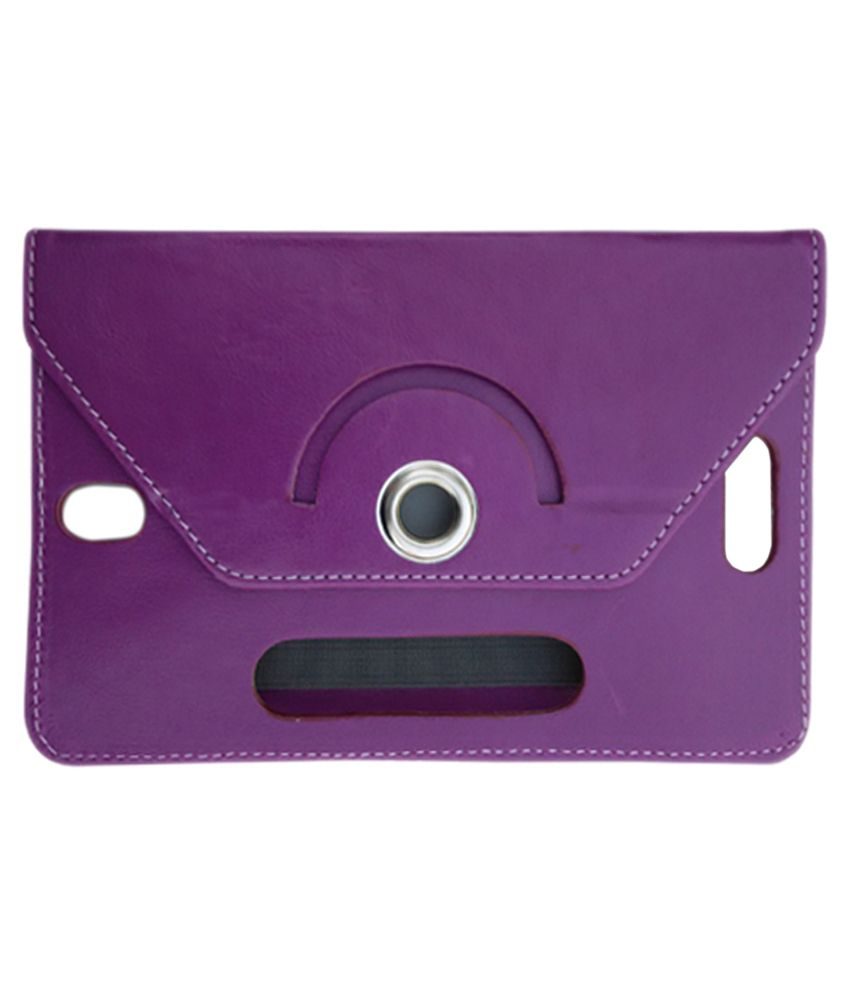 Fastway Flip Stand Cover for Micromax Funbook P600 - Purple