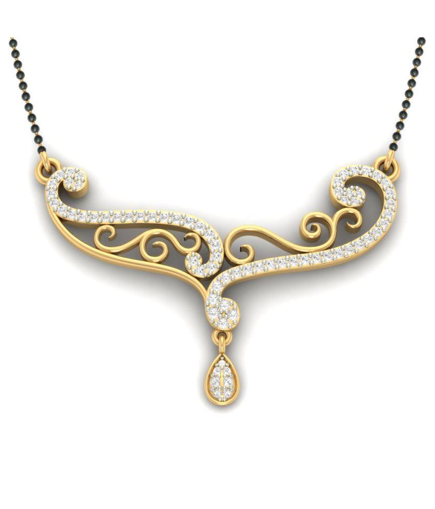 Jewels5 14kt Gold Diamond Jahnvi Mangalsutra