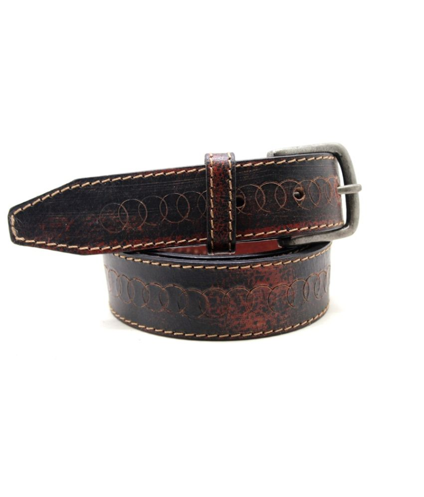 Lapalma Black Leather Belt For Men