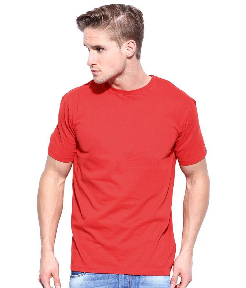 Promoworld Exim Red Cotton T - Shirt