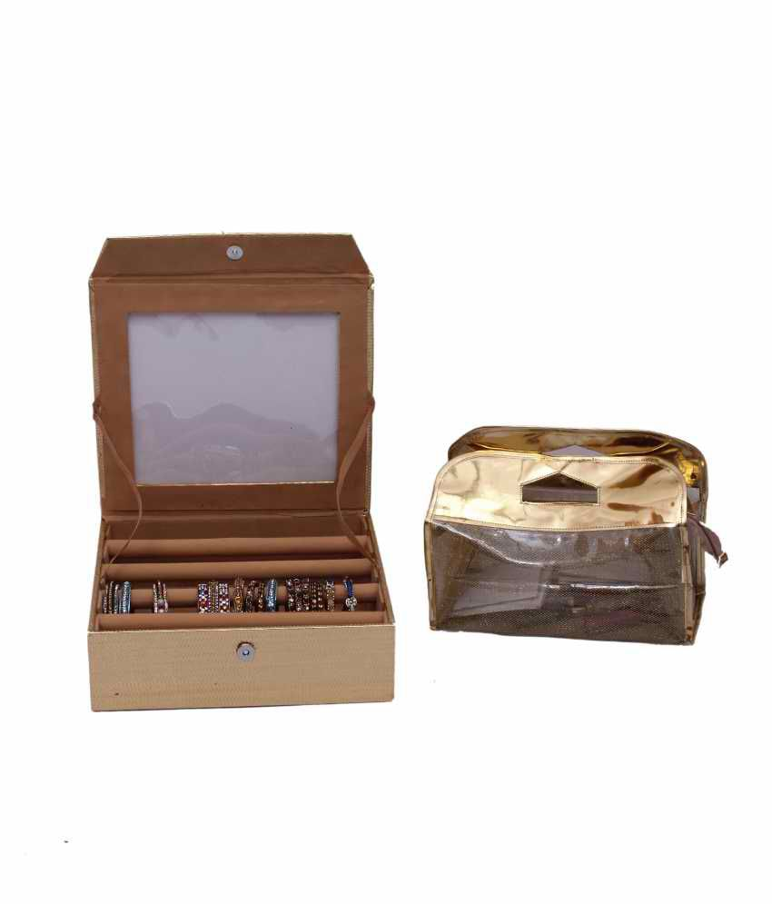 Kuber Industries Bangle Four Roll And Vanity Box