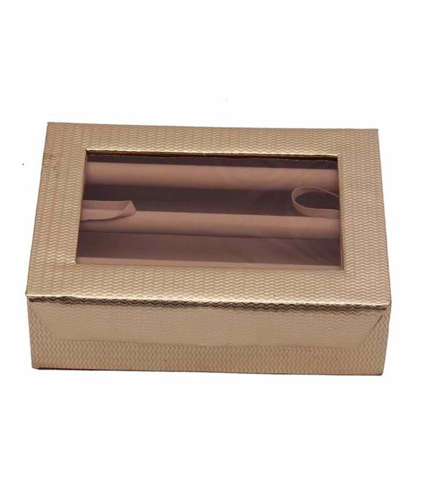 Kuber Industries Bangle Three Roll And Earing Box