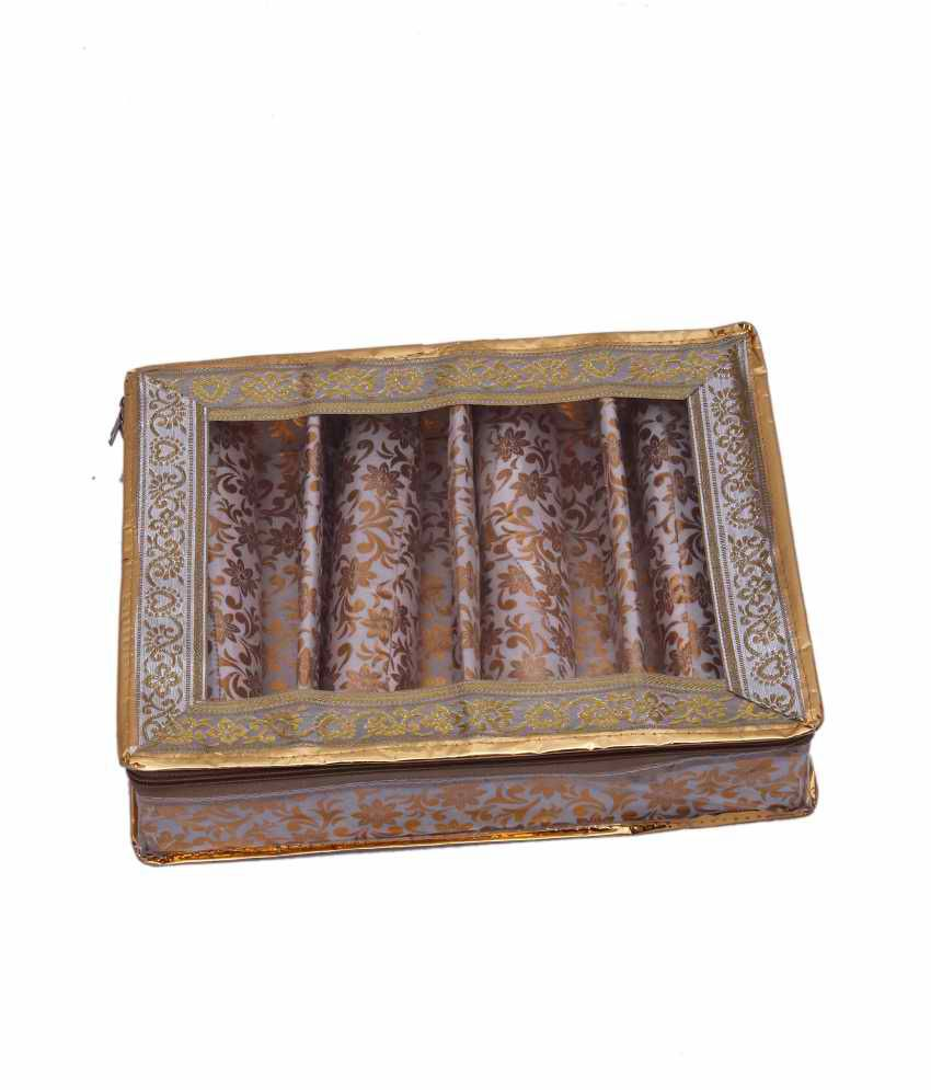 Kuber Industries Four Roll Bangle Box And Vanity Box