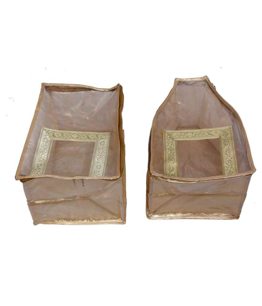 Kuber Industries Gold Blouse Cases Set Of 2 Pieces