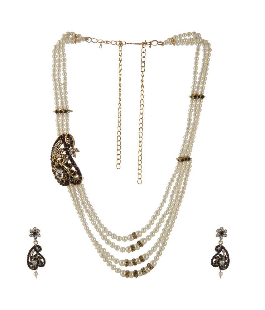 trend overseas multi colour alloy statement necklaces