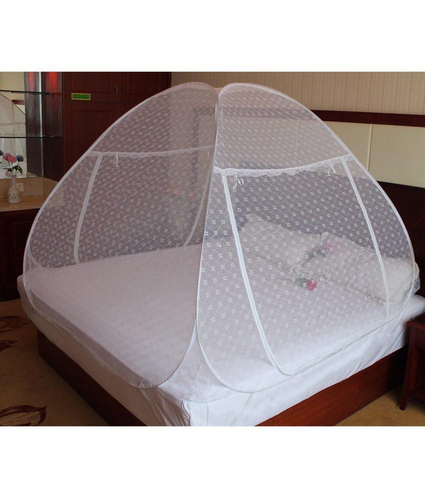 ... Verdioz Double White Embroidery Mosquito Net (200*200*145 cm) ...