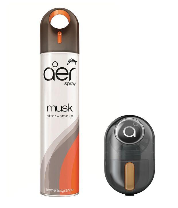 Godrej aer - Car Perfume Combo - Home Freshener Spray (300ml) + aer Click Car Freshener (10gm) - Musk After Smoke