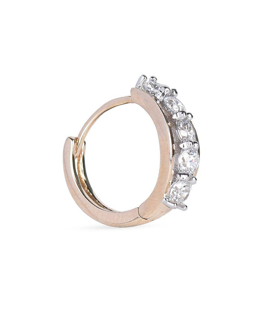 BGS Gold Alloy Style Diva Hoop Earrings
