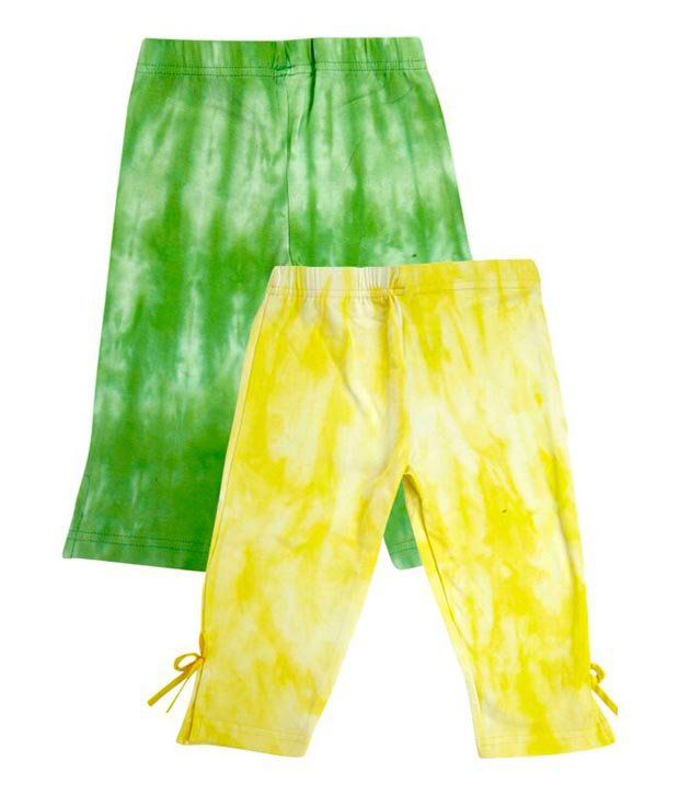 Fiore Multicolor Cotton Capris - 2Pcs