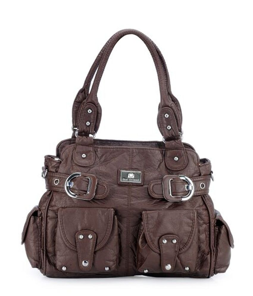 Basta Brown P.U. Shoulder Bag
