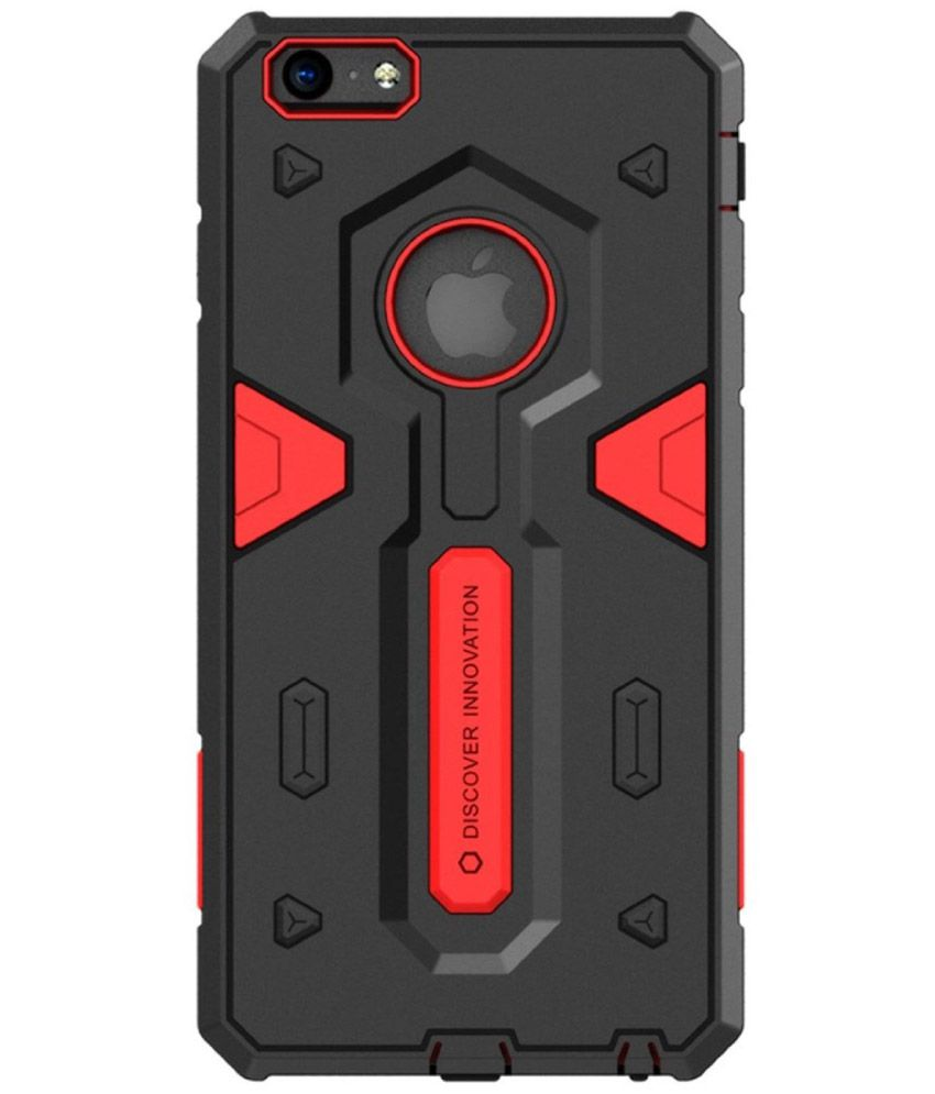 1573264c60 Nillkin Defender Case Shockproof Back Cover Made For Apple iPhone 6  Plus-Red and Black - Plain Back Covers Online at Low Prices | Snapdeal India