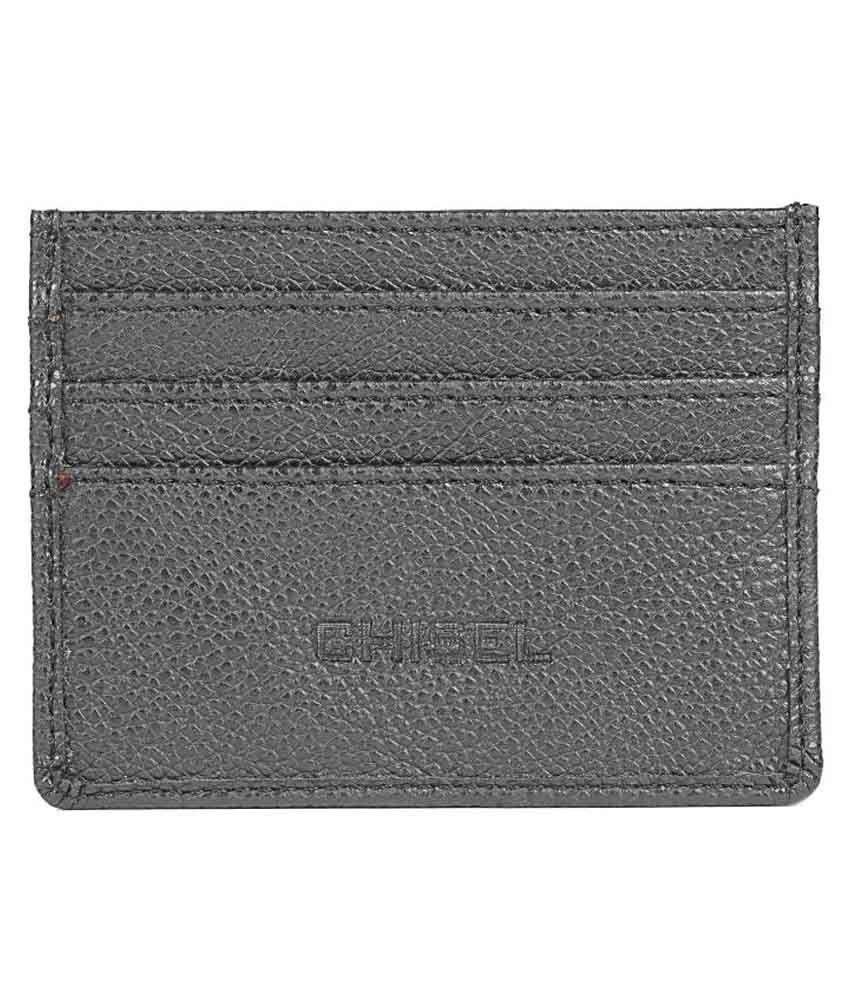 Chisel Black Leather Card Holder