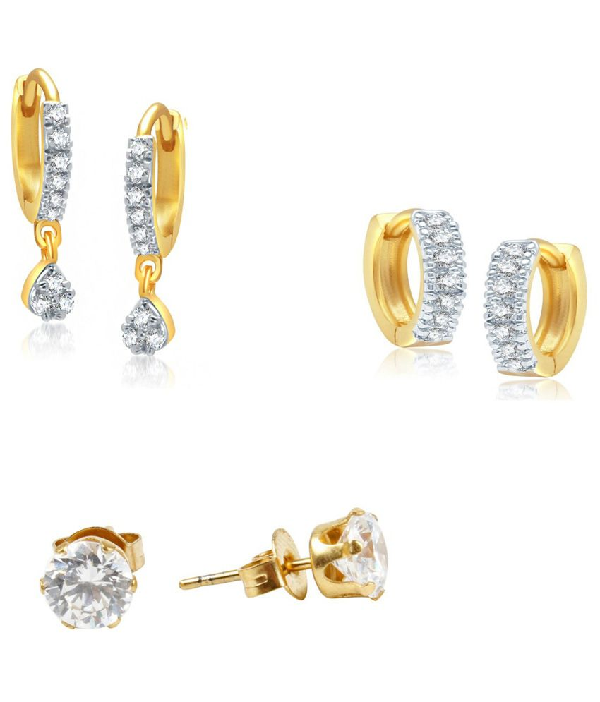 Jewels Galaxy Exclusive Collection Of Fancy Ad Earrings - Combo Of 3