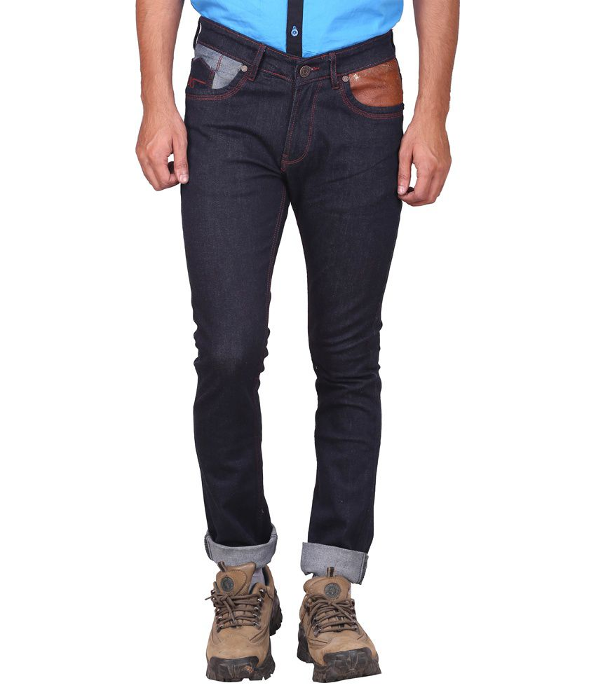 Elfried Black Cotton Slim Fit Jeans