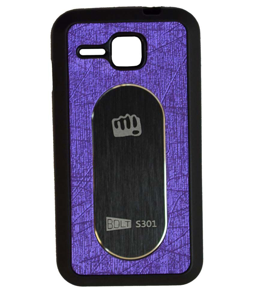 info for 6d761 95fdb Elomo Back Cover for Micromax Bolt S301 - Purple - Plain Back Covers ...