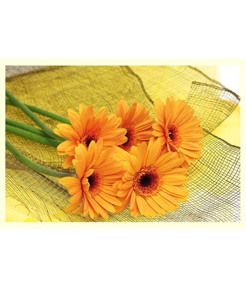 Av styles beautiful yellow flowers on net poster buy av styles av styles beautiful yellow flowers on net poster izmirmasajfo