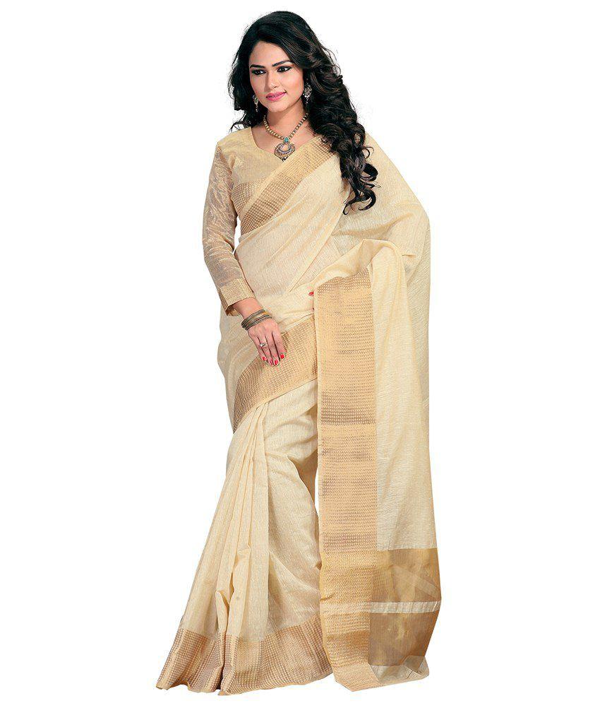 76786059c1 Tagbury Beige Cotton Silk Saree - Buy Tagbury Beige Cotton Silk Saree Online  at Low Price - Snapdeal.com