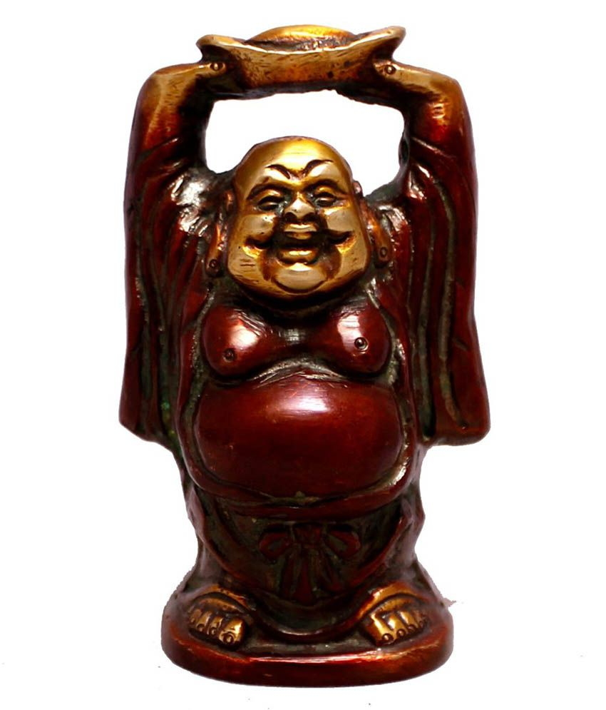 Krishna Mart Brown Brass Buddha Idol