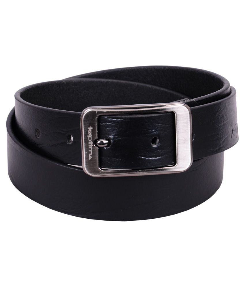 Toptima Black Leather Formal Belt