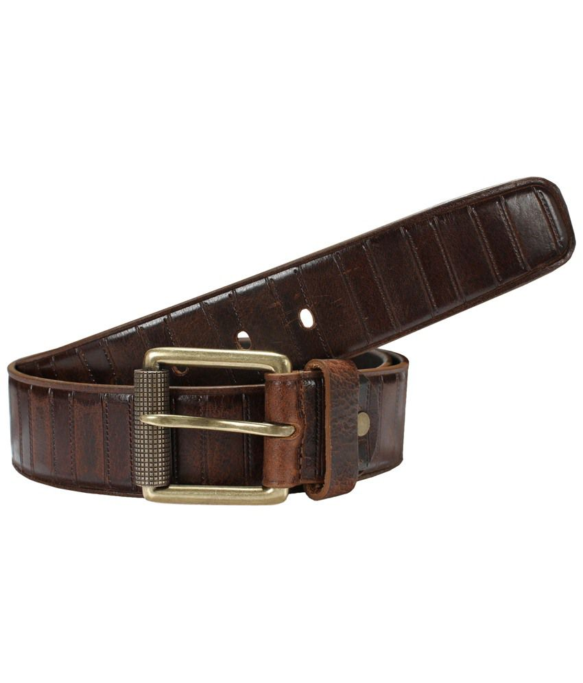 Virtuoso Sturdy Brown Casual Belt for Men