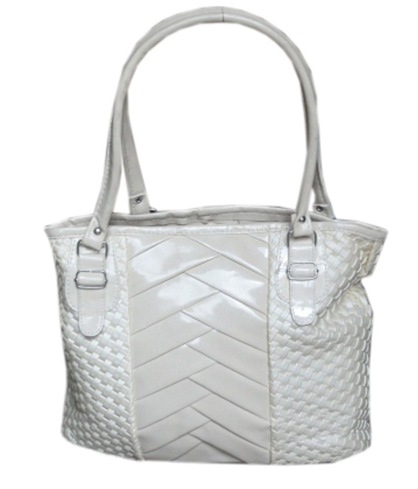 Kreative Silver P.U. Shoulder Bag