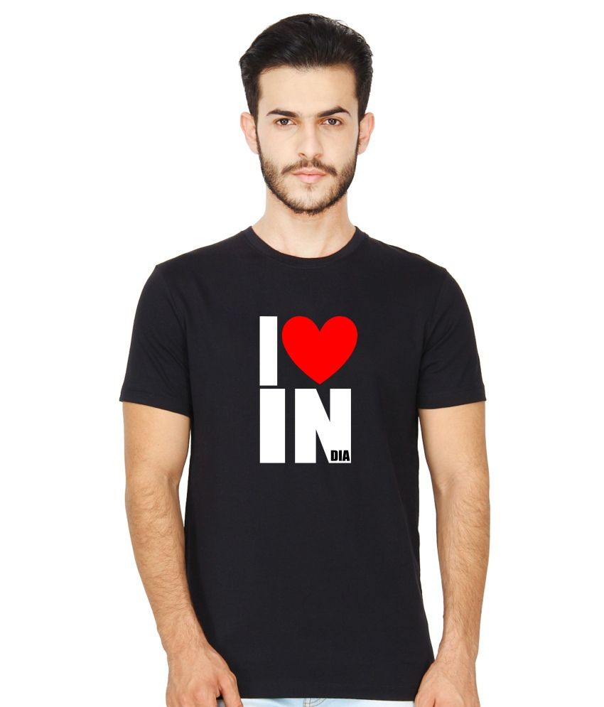 United Squares Black Cotton T-shirt
