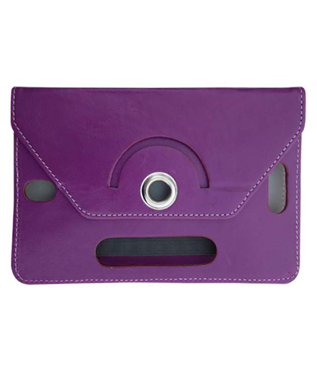 Fastway Leather Flip Stand Cover For BSNL Champion W Tab 706 -Purple