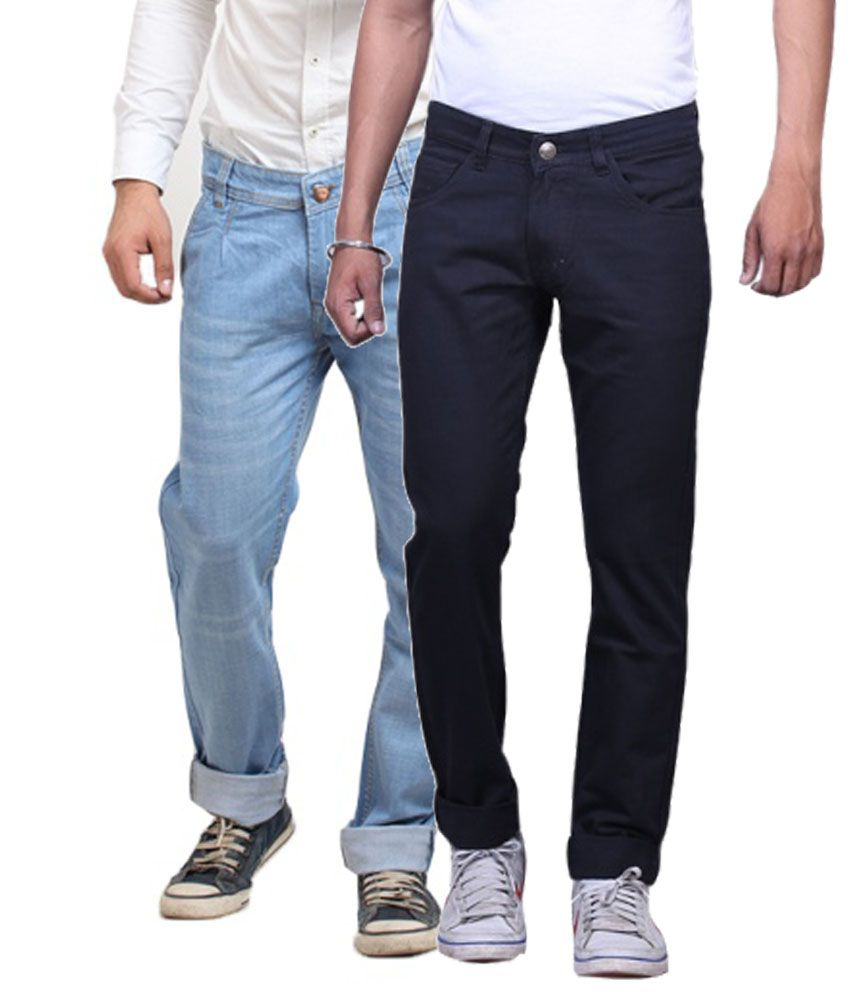 X-cross Cotton Blend Regular Fit Jeans - Pack Of 2