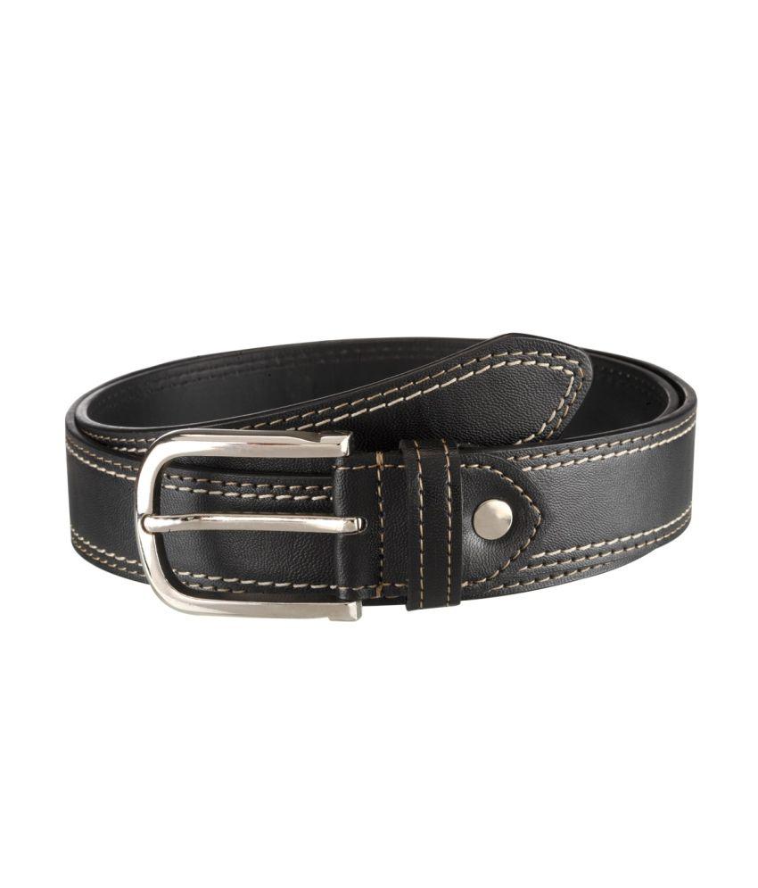 Orkee Men Evening Black Artificial Leather Belt (Black-09)