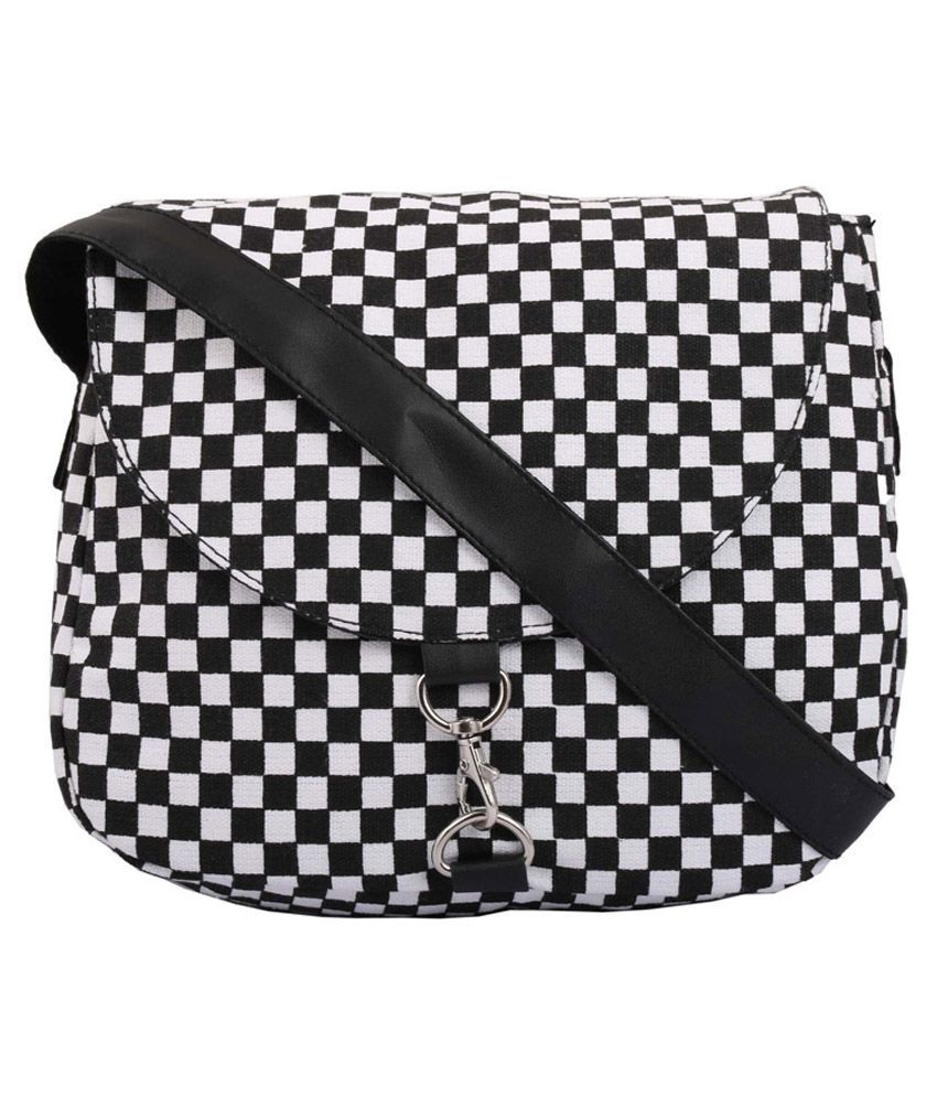 Crafts My Dream Canvas Sling Bag-Black & White - Buy Crafts My ...