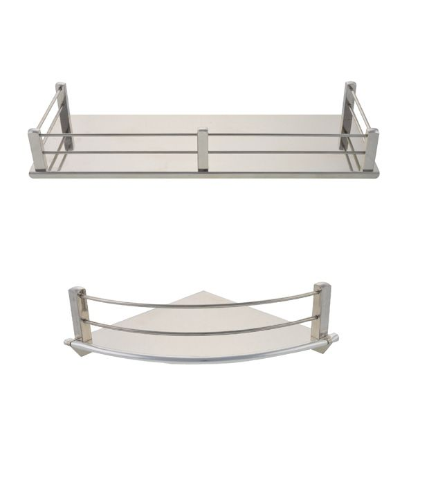 buy dolphy stainless steel corner shelf 6 inch and stainless steel shelf 12x5 inch online at low. Black Bedroom Furniture Sets. Home Design Ideas