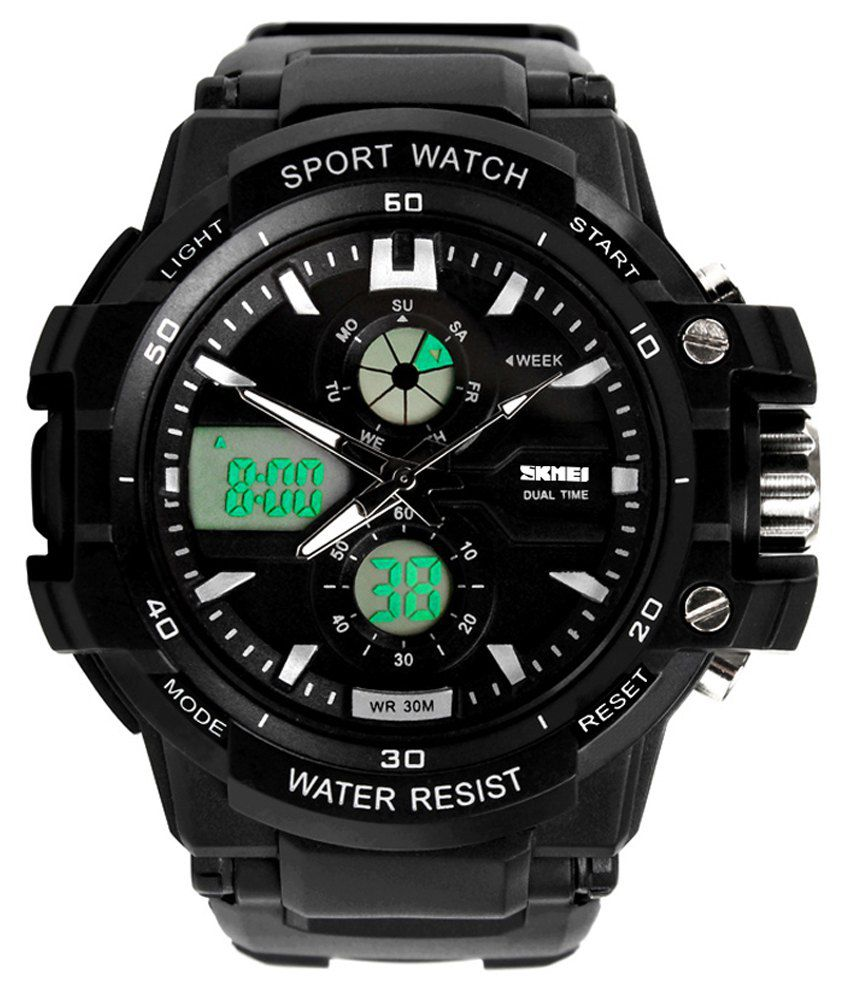 d5ae8475c Skmei Black Analog-Digital Sports Watch - Buy Skmei Black Analog-Digital Sports  Watch Online at Best Prices in India on Snapdeal