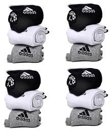 Adidas Multi Colour Cotton Ankle Length 12 Pair of Socks