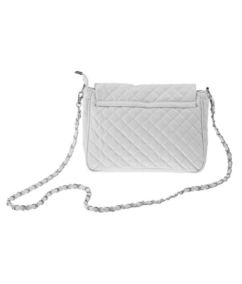 3e8f9b17491b Lee Italian White Sling Bag - Buy Lee Italian White Sling Bag Online ...