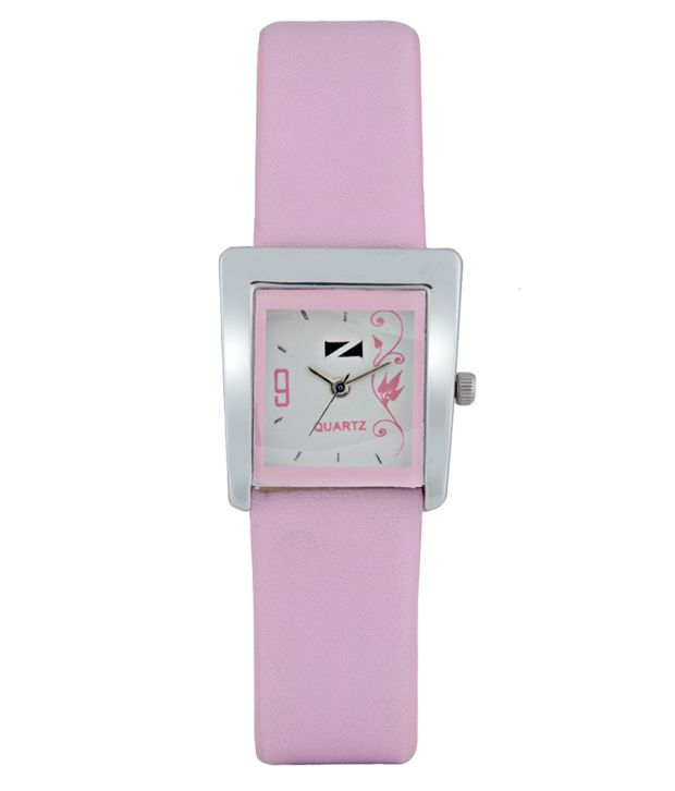 Zeus Pink Leather Women Watches
