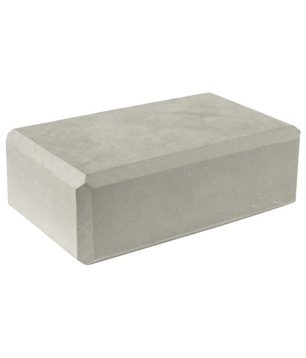 Domyos Gray Foam Yoga Brick By Decathlon