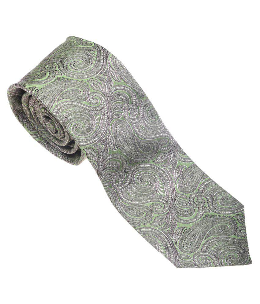Picador Gray Paisley Design Neck Tie