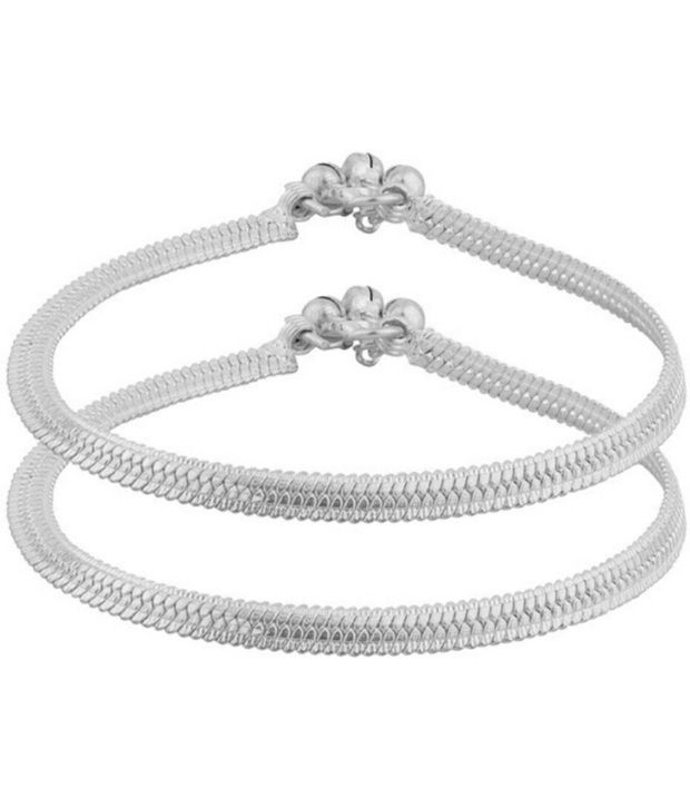 New Collection Jewels Silver Alloy Pair Of Anklet