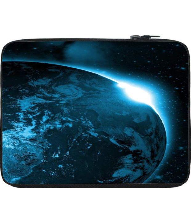 Snoogg Blue Laptop Sleeve