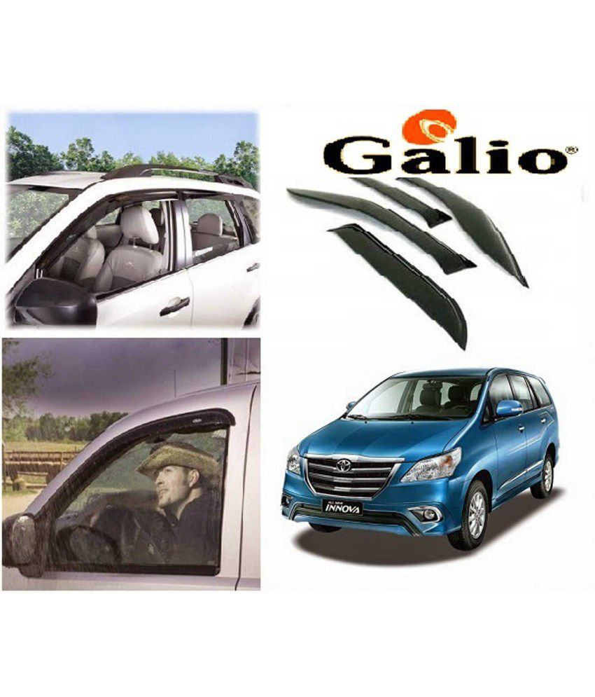 galio car rain wind door visor side window deflector for toyota rh snapdeal com