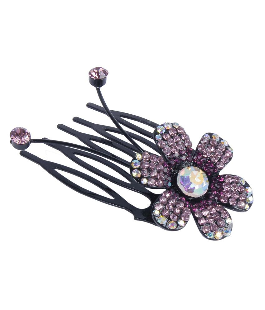 Hair accessories online snapdeal -  Much More Small Flower Design Crystal Stone Hair Clip For Kids Women Hair Accessories